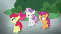 Cutie Mark Crusaders hear Applejack's voice S8E12