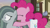 Pinkie Pie pushing Marble outside S5E20