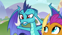 Princess Ember covering her eyes S8E2