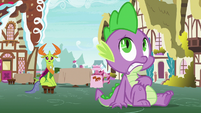 Thorax notices Ember yelling at Spike S7E15