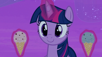 Twilight Sparkle with two ice cream cones S7E22
