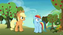 Applejack and Rainbow hear Granny Smith S8E5