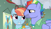 Bow and Windy excited to see Rainbow Dash S7E7