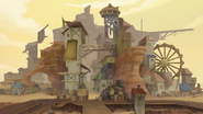MLP The Movie background art - Rundown city