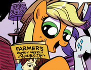 Micro-Series issue 3 Applejack reading.png
