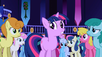Popular background ponies staring at Twilight