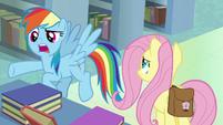 "Rainbow Dash ""make him sound like a hero!"" S9E21"