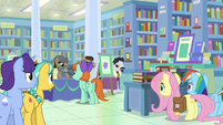 Rainbow and Fluttershy spy on Martingale S9E21