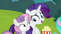 """Rarity """"you love these puppet shows"""" S7E6"""