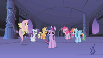 "Twilight calls the other ponies ""my friends!"" S1E02"
