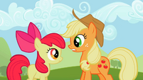 Applejack telling Apple Bloom what's uncouth S2E05
