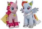 Build a Bear Workshop Pinkie Pie and Rainbow Dash in their special clothes