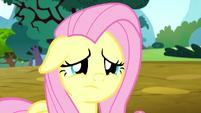 Fluttershy sad that Pinkie Pie is gone S8E18