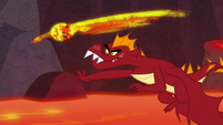 Garble hurls at lava ball at Spike S9E9