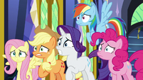 Main ponies gasping in shock S9E26