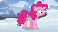 Pinkie Pie shocked by what she hears S7E11