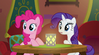 Pinkie and Rarity hear a clattering sound S6E12