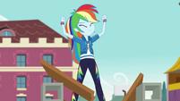 Rainbow Dash posing victoriously CYOE4b