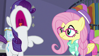 Rarity shocked by Hipster Fluttershy S8E4