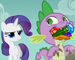 Spike trying to eat gems S1E19