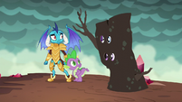 Twilight and Rarity appear next to Spike and Ember S6E5
