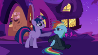 Twilight is okay with what Rainbow Dash said S2E16