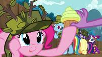 Pinkie Pie given a cupcake S2E21