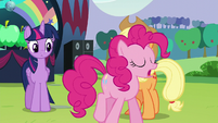Pinkie says that Sapphire Shores is the second biggest pop star in all of Equestria S5E24