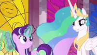 Princess Celestia greeting Starlight Glimmer S7E10