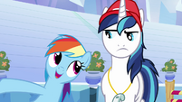 """Rainbow Dash and Shining Armor """"she's in charge"""" S03E12"""