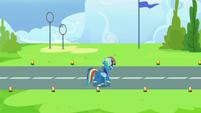 Rainbow Dash walks onto academy runway S7E23