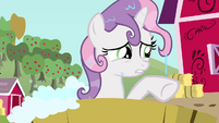 Sweetie Belle trying to think of something S3E04