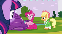 Twilight with Pinkie and Apple Chord S9E4