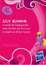 Wave 1 Lily Blossom collector card back