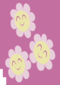 Three smiling faced flowers