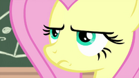 Fluttershy looking deadly serious MLPS3