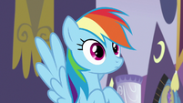 Rainbow Dash with eyes wide open S9E17