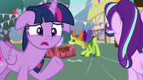 Twilight Sparkle -on the same day as Ember-!- S7E15