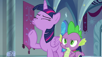 Twilight Sparkle scoffing at the insinuation S9E4