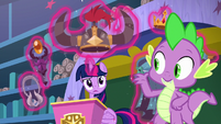 Twilight looking puzzled at Spike S8E15