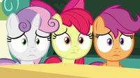 Cutie Mark Crusaders even more nervous S8E12