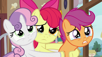 Cutie Mark Crusaders starting to cry S9E12