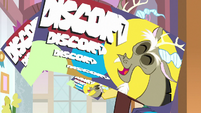 Discord's business cards fly at the screen S8E15