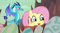 """Fluttershy """"are they finally hatching?"""" S9E9"""