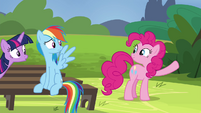 Pinkie Pie about to break into song S4E21