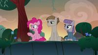 "Pinkie Pie straining ""technically"" S8E3"