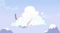 Rainbow Dash flying around cloud 2 S3E7