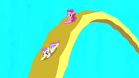 Ruby Pinch and Princess Erroria sliding on accordion S4E12