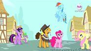 Fluttershy,Pinkie,Spike,Cheese,Rainbow i Twilight