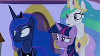 Twilight and princesses see Dash speed by S9E17